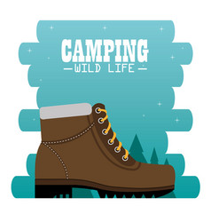 Camping zone with boots vector