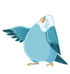 Cartoon fat parrot vector image