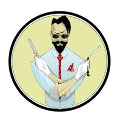 Cartoon hairstylist vector
