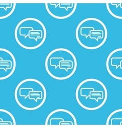 Chatting sign blue pattern vector image