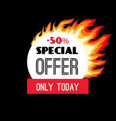 circle fire discount frame vector image