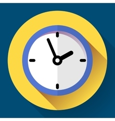 Clock icon flat design with vector