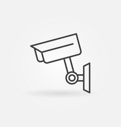 closed-circuit television camera icon in thin line vector image