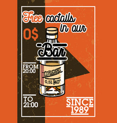 color vintage bar banner vector image