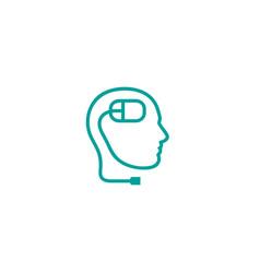 creative abstract human head computer mouse logo vector image