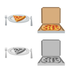 Design of pizza and food symbol collection vector
