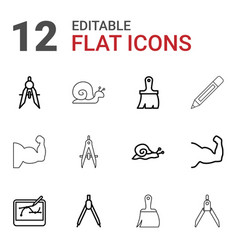 Draw icons vector