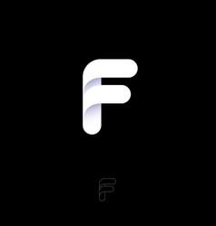 f monogram letter logo white letter vector image