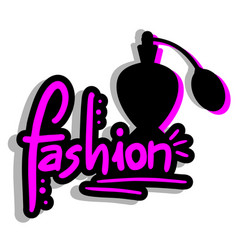 fashion perfume vector image