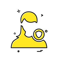 female avatar icon design vector image