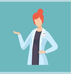 female doctor professional medical worker vector image
