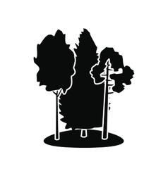 Forest black simple icon vector