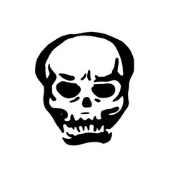 Hand drawn witch and magic item skull vector