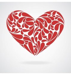 Heart of curls vector image