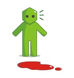 Hexagon Man - I Found Blood Spots vector image vector image
