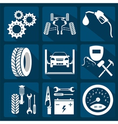 Icon car service 3 vector