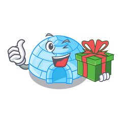 Igloo ice house isolated on mascot vector