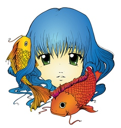 Koi Girl vector image