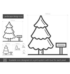 Landscape design line icon vector