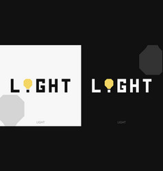 Light wordmark logotype vector