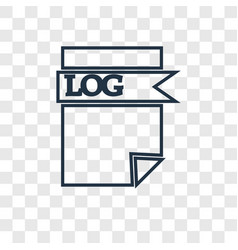 Log file concept linear icon isolated on vector