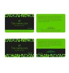 Loyalty card design template vector image
