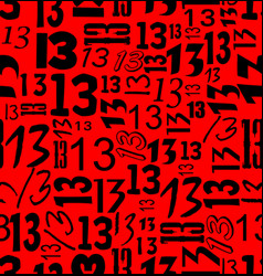 Magic unlucky number thirteen typographical vector
