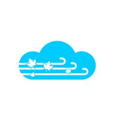 Maple cloud modern logo design vector