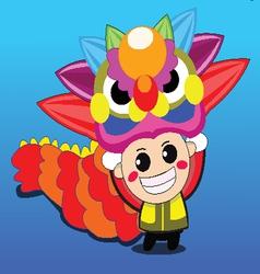 Mascot colorful design vector