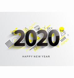 modern 2020 design card vector image