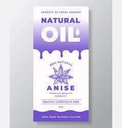 natural oil abstract packaging design or vector image