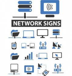 network signs vector image