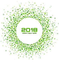 New year 2018 card green background vector