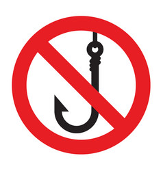 no fishing allowed vector image