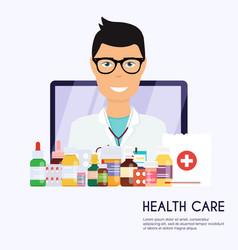 online medical consultation concept modern vector image