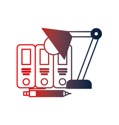 Organizing folder with lamp vector