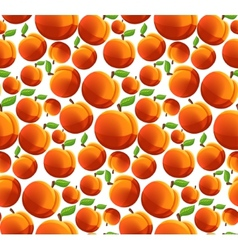Peach seamless pattern vector