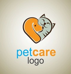 pet care logo 6 vector image