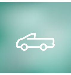 Pick-up truck thin line icon vector image