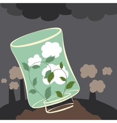 Plants clean the air vector image