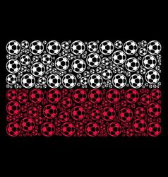 poland flag collage of football ball icons vector image