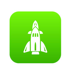 rocket icon green vector image