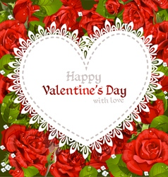 Roses Valentines Card vector image vector image