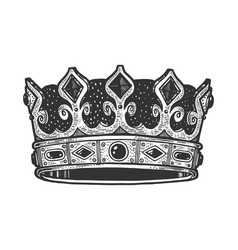 royal crown sketch engraving vector image