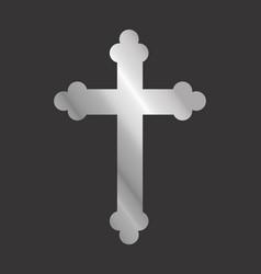 Silver cross vector