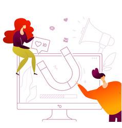 social media marketing - modern flat design style vector image