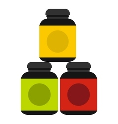 Sports supplements icon flat style vector