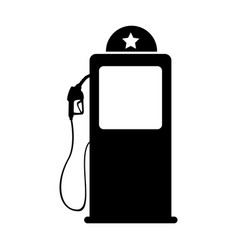 Station service pump isolated icon vector