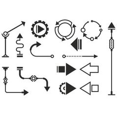 Steampunk graphic objects vector image