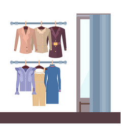 Summer mode and changing room vector